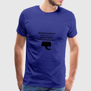 Elephant and the naked man - Men's Premium T-Shirt