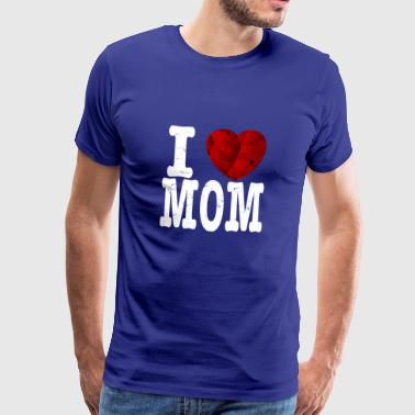 I love mom t shirt gift ruby ​​heart mum - Men's Premium T-Shirt