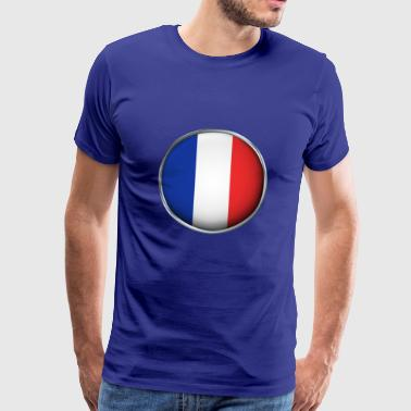 France Flag 3D - Men's Premium T-Shirt