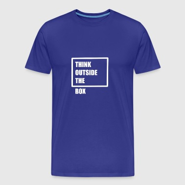 Think outside the box - think differently - Men's Premium T-Shirt
