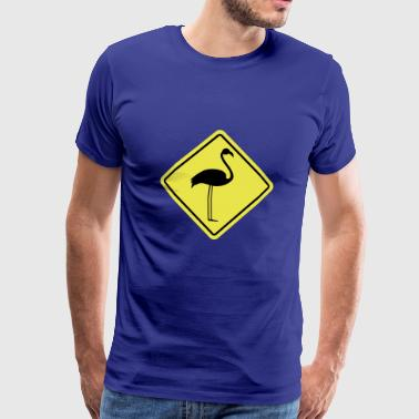 Flamingo Sign - Herre premium T-shirt