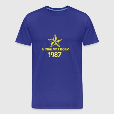 a Star was born 1987 - Männer Premium T-Shirt