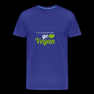 vegan, tofu, eating meatless, plants, love of animals - Men's Premium T-Shirt