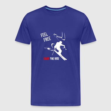 freeride skiing - Men's Premium T-Shirt