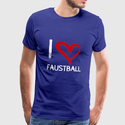 I love Faustball - Männer Premium T-Shirt