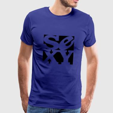 sexy homage to robert indiana black outside - Men's Premium T-Shirt