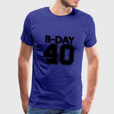40 years / verzig / round birthday number number - Men's Premium T-Shirt