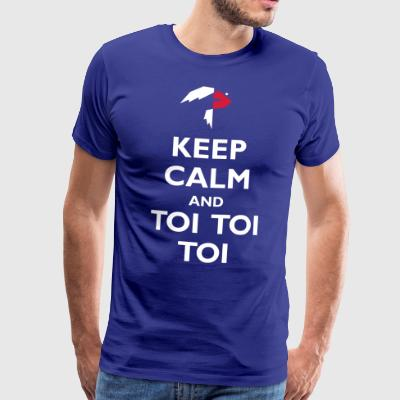 Toi toi toi Keep Calm and - Premium-T-shirt herr