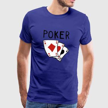 Pokeripeli - Card - Cards - poker - Full House - Miesten premium t-paita