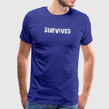 Simple Survived Logo - Men's Premium T-Shirt