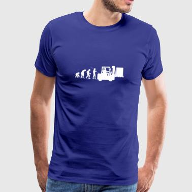 Forklift trucker evolution colleague - Men's Premium T-Shirt
