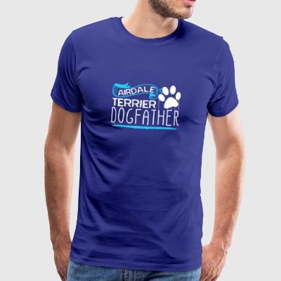 Airdale Terrier Dog Father - Premium T-skjorte for menn