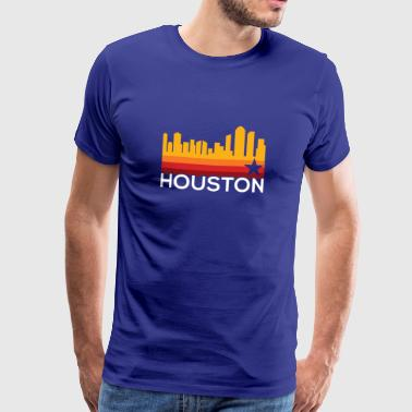 Houston Baseball sprang Astro - Premium T-skjorte for menn