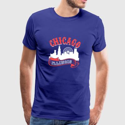Chicago Illinois Vintagestaden - Premium-T-shirt herr