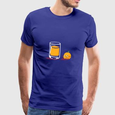 Sörjande Orange apelsinjuice - Premium-T-shirt herr