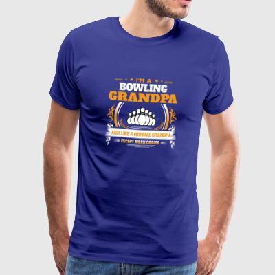 Bowling Grandpa Shirt Gift Idea - Men's Premium T-Shirt