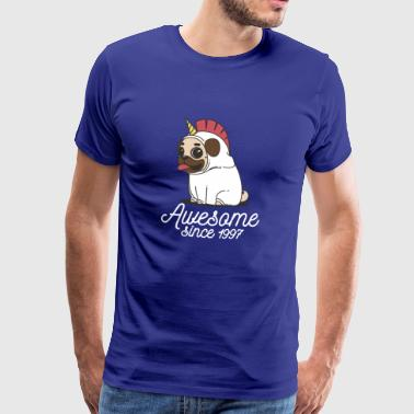 Awesome since 1997 | Funny Unicorn Pug - Männer Premium T-Shirt