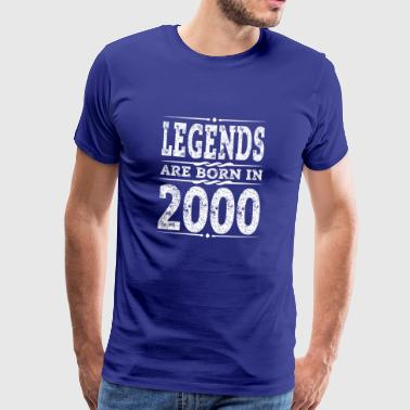 Year 2000 Born Gift 18th Birthday T-Shirt - Men's Premium T-Shirt