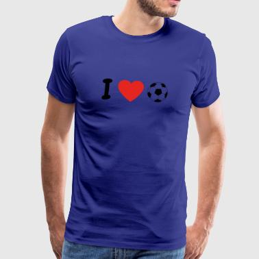 I love football ultras stuermer goalkeeper torman - Men's Premium T-Shirt