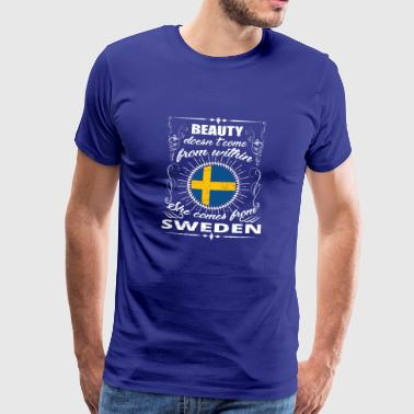 beauty comes from SWEDEN png - Men's Premium T-Shirt