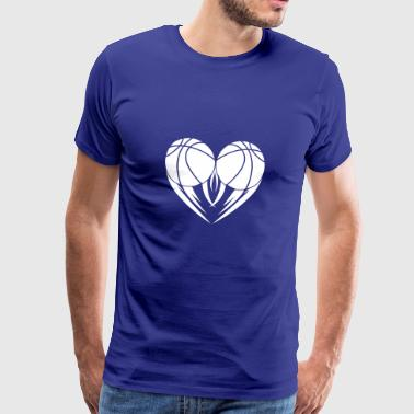 My heart for basketball gift beats for - Men's Premium T-Shirt