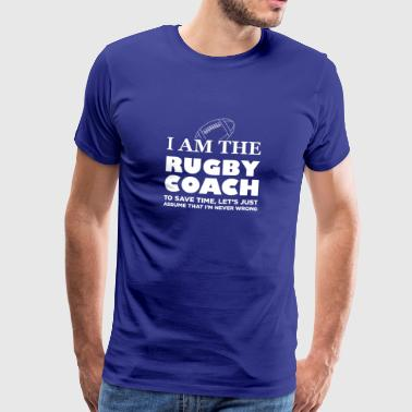 I Am The Rugby Coach Gift - Men's Premium T-Shirt