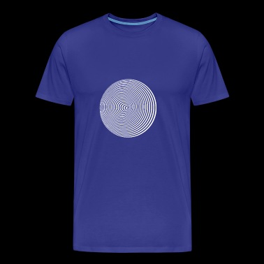 Optical illusion circles around illusion hallucinat - Men's Premium T-Shirt