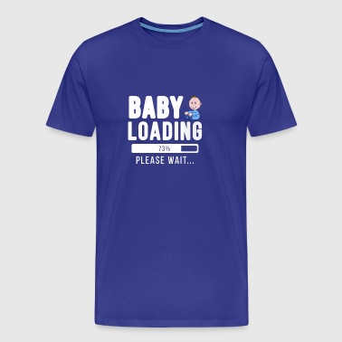 Baby loading ... please wait! | baby shirt - Mannen Premium T-shirt