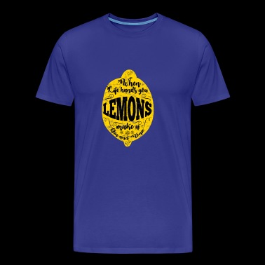 If life gives you lemons: gin + tonic - Men's Premium T-Shirt