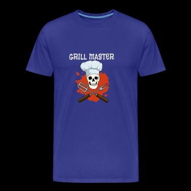Grill Master Totenkopf Barbecue Barbecue Couverts Chef - T-shirt Premium Homme