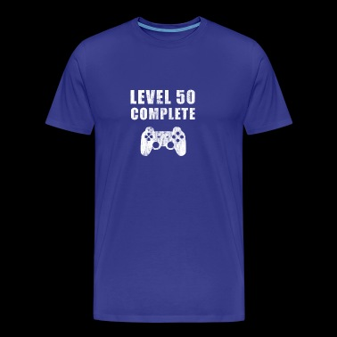 50 födelsedag Nivå 50 Gaming Video Games Gamer PC - Premium-T-shirt herr