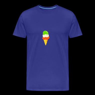 Italian ice cream gelato waffle gift summer - Men's Premium T-Shirt