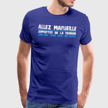 Collection ALLEZ MARSEILLE Supporter of Reunion - Men's Premium T-Shirt