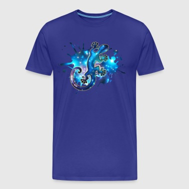 Space Gecko, Galaxy, Star, Surf, Lizard, Universe - Premium T-skjorte for menn