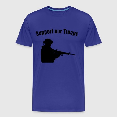 Support our Troops / soldier - T-shirt Premium Homme