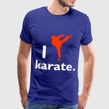 karate - Premium T-skjorte for menn