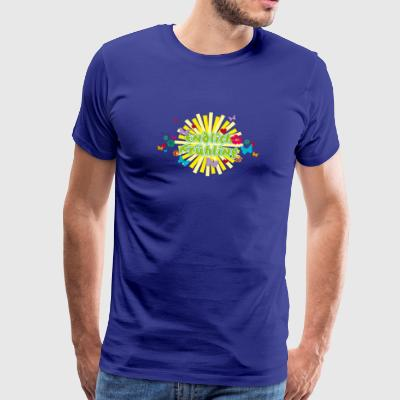 Finally spring blossoms butterflies sun - Men's Premium T-Shirt