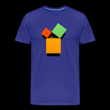 Pythagoras 3D set - Men's Premium T-Shirt