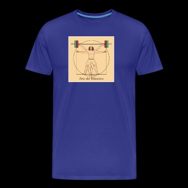 Vitruvian man tearing - Men's Premium T-Shirt
