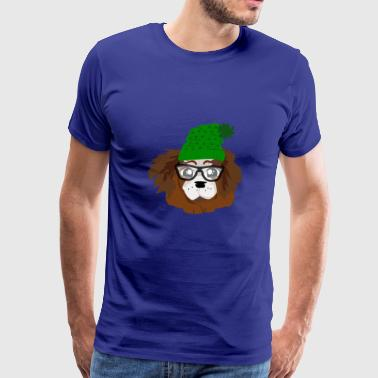 NERDY LOVELY PUPPY - Men's Premium T-Shirt