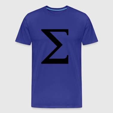 Sigma greek alphabet - Men's Premium T-Shirt