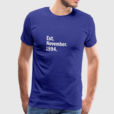 Est november 1994 - Premium T-skjorte for menn