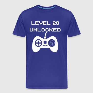 Level 20 Unlocked - Mannen Premium T-shirt