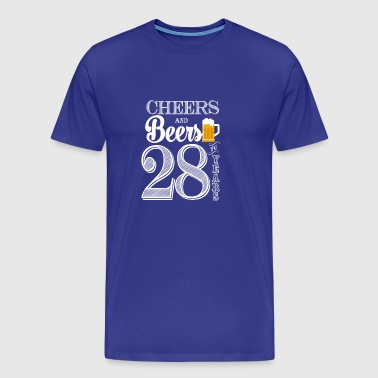 Cheers and Beers To 28 Years - Men's Premium T-Shirt