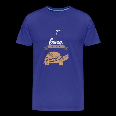 I love turtles gift I love - Men's Premium T-Shirt