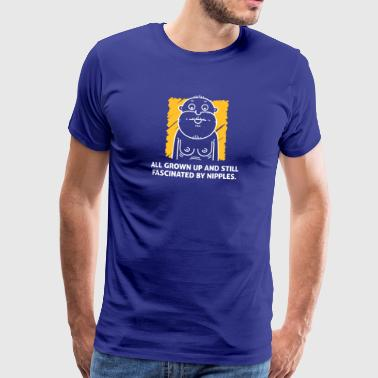 Nipples Fascinate Me Despite My Age. - Men's Premium T-Shirt