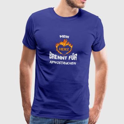Gift T-shirt heart burns Apno duchen - Men's Premium T-Shirt