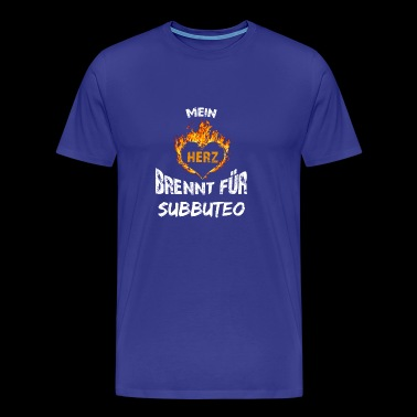 Gift T-Shirt Heart Burns Subbuteo - Men's Premium T-Shirt