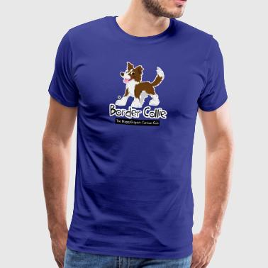 CartoonClub BorderCollie Brown - T-shirt Premium Homme