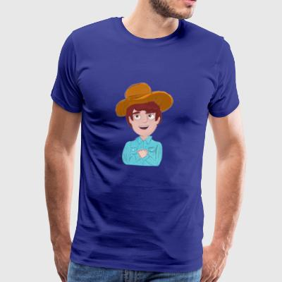 Cow-boy - T-shirt Premium Homme